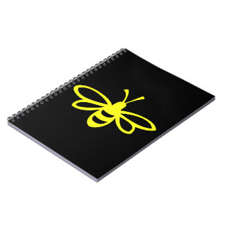 Bee (lemon colored) spiral note books