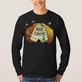 Bee-Lieve Honeycomb Lyme Disease Awareness T-Shirt