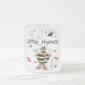 Bee Little Honey t-shirts and Gifts Frosted Glass Mug