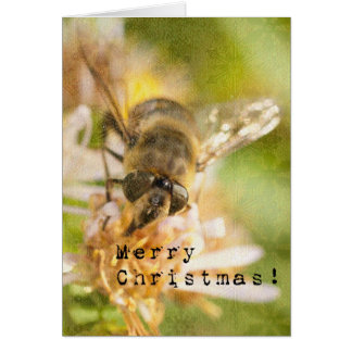 Bee Merry A Honey Bee Christmas Greeting Card