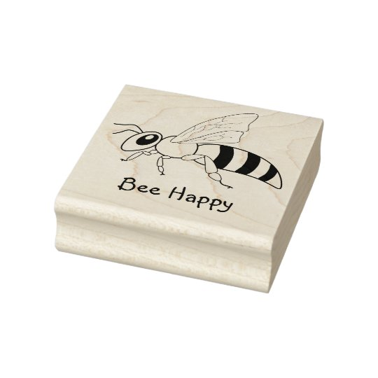 Bee Message Rubber Stamp