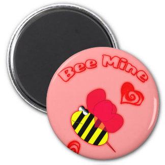Bee Mine Fridge Magnet