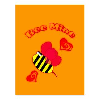Bee Mine Valentine Day Postcard