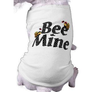 Bee Mine Valentine's Day Sleeveless Dog Shirt