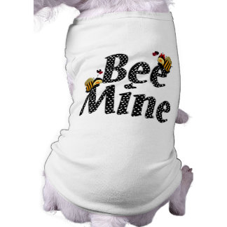 Bee Mine Valentine's Day Sleeveless Dog Shirt