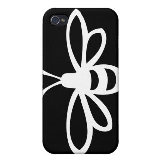 Bee (Monochrome) Cover For iPhone 4