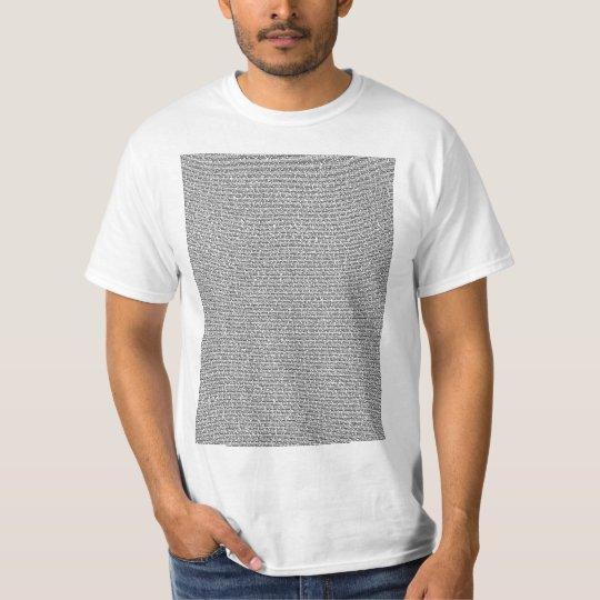 Bee Movie Script Body Text Light T-Shirt