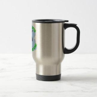 bee stainless steel travel mug