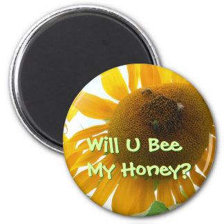 Bee My Honey Fridge Magnet