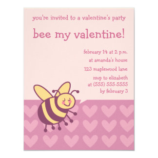 Bee my Valentine Party Invitations