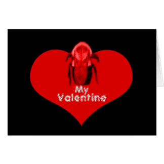 Bee My Valentine Red Heart Card Greeting Card