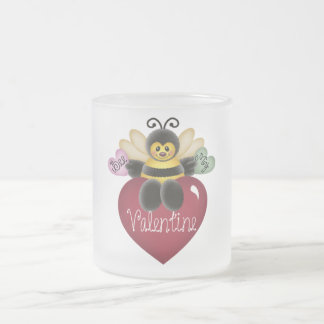 Bee My Valentine Tshirts and Gifts Frosted Glass Mug