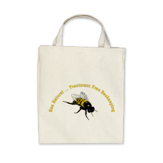 Bee Natural Treatment Free Beekeeping Tote Bags