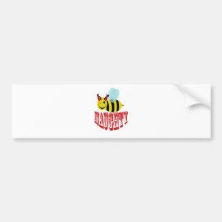 bee naughty bumper sticker