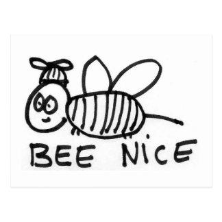 Bee Nice Postcard
