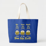 """Bee No Evil"" Bees Jumbo Tote Bag"