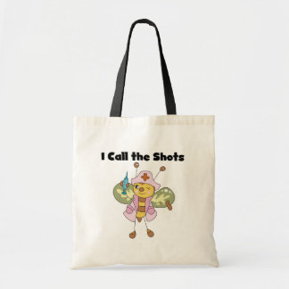 Bee Nurse I Call the Shots Tshirts and Gifts Tote Bags