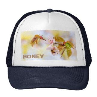 Bee On A Cherry Flowe Cap