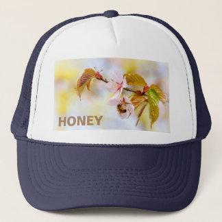 Bee On A Cherry Flowe Trucker Hat