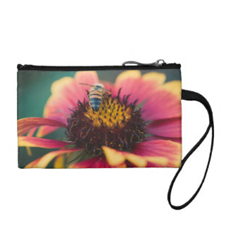 Bee on a flower coin purse