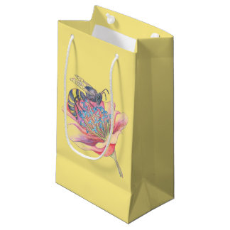 bee on a flower gift bag