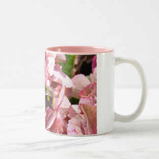 Bee on a Hydrangea Flower Mug