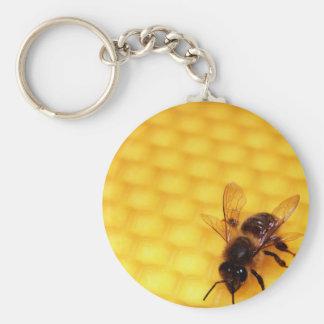 Bee on a wax key ring
