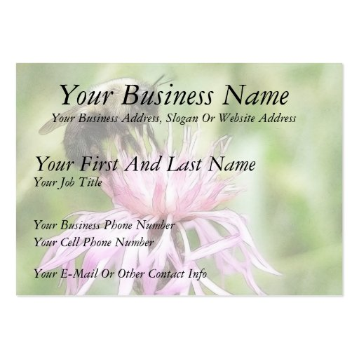 Bee On Bachelor Button Business Cards