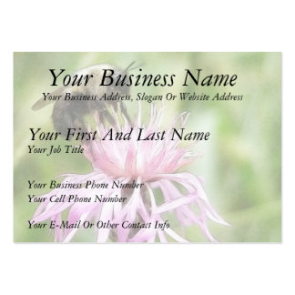 Bee On Bachelor Button Pack Of Chubby Business Cards