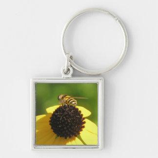 Bee on Black-Eyed Susan Keychain