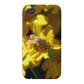 Bee on flower covers for iPhone 4