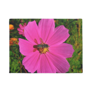 Bee On Flower Door Mat