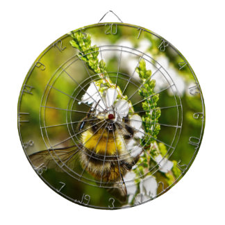 Bee on Lucky White Heather Dartboard