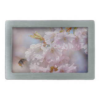 Bee on Pink Blossom Belt Buckle