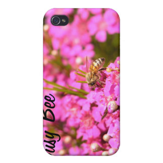 Bee on pink flowers iPhone 4/4S cover