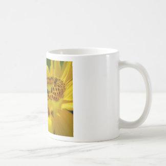 Bee on Sunflower Basic White Mug