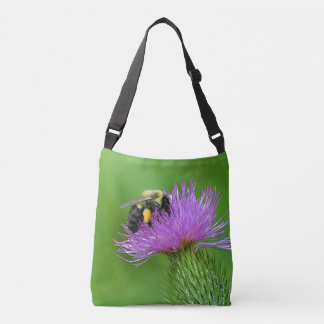 Bee On Thistle Crossbody Bag