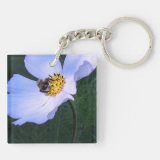 Bee on White Cosmo Acrylic Keychain
