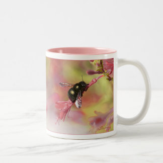 Bee on Wildflower Two-Tone Coffee Mug