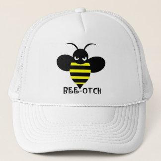 Bee-otch Hat white