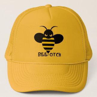 Bee-otch Hat yellow