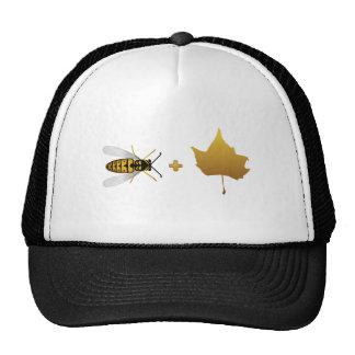Bee plus a golden maple leaf = Bee + Leaf (Belief) Trucker Hats