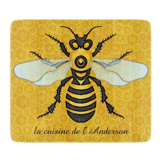 Bee Pretty Honeycomb Honeybee Hive Custom Kitchen Cutting