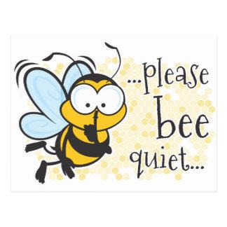 Bee Quiet Postcard