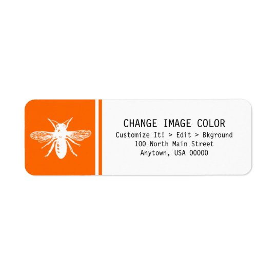 Bee - Return Address Label