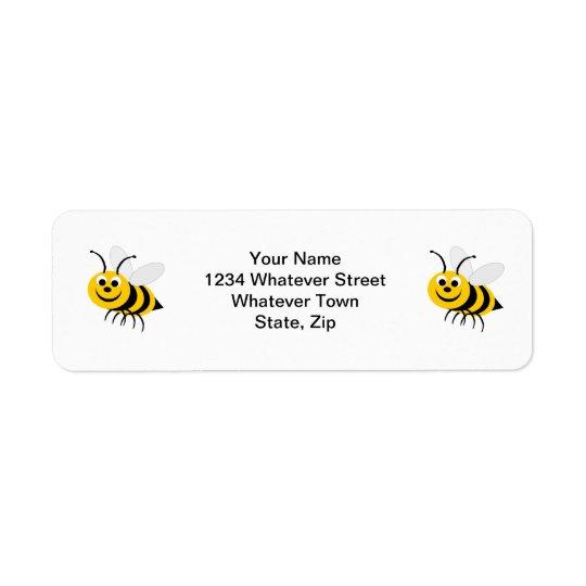 Bee Return Address Label
