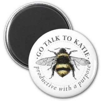 Bee Round Magnet