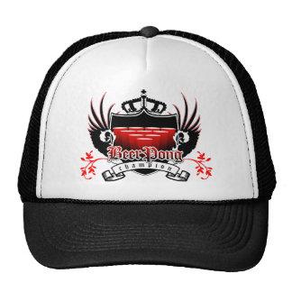 bee rpong champion royal crest trucker hat