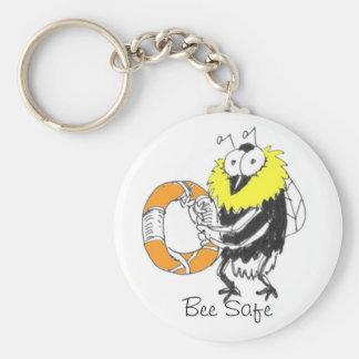 Bee Safe Keychain