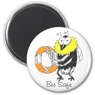 Bee Safe magnet